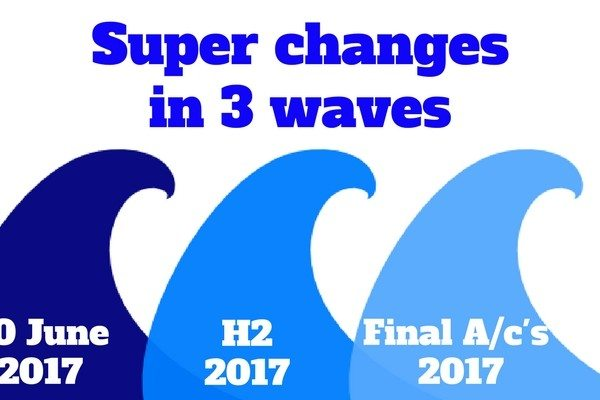 Super changes in 3 waves