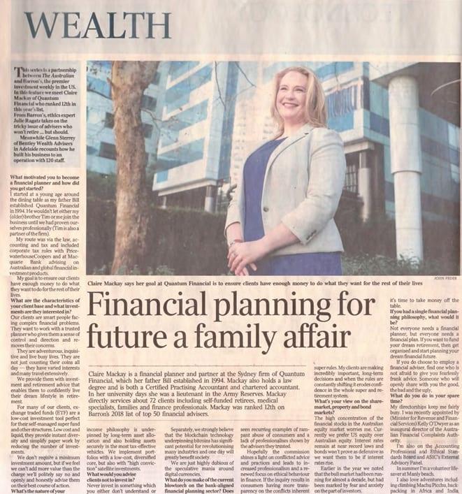 Barrons Top Best financial Planners Australia
